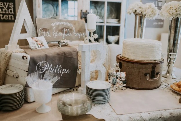 an antiques and ivory rustic bridal shower ultimate bridesmaid avonne photography