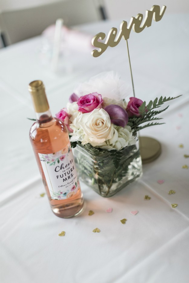 Shop these cute custom bridal shower wine labels. A Yacht Club Nautical Bridal Shower | Ultimate Bridesmaid | Kelly Sea Images