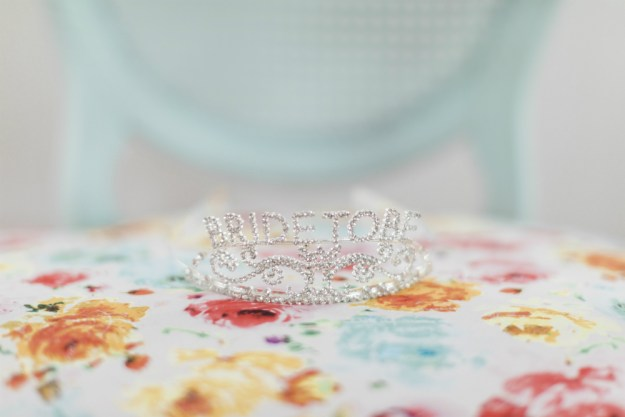 Bride to Be tiara. A Yacht Club Nautical Bridal Shower | Ultimate Bridesmaid | Kelly Sea Images