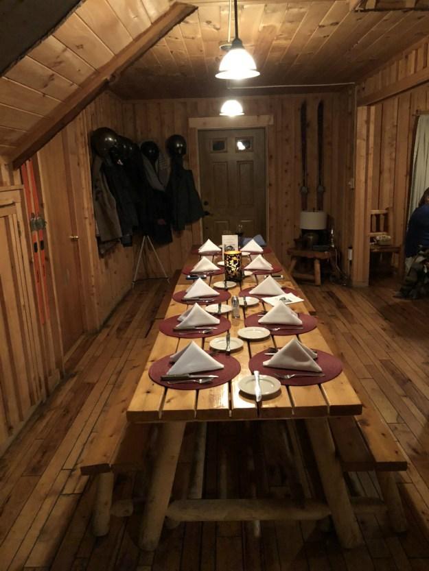 Adventure backcountry dinner. A Winter Bachelorette Weekend in Snowshoe, West Virginia | Ultimate Bridesmaid