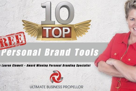 Top Ten Personal Brand Tools