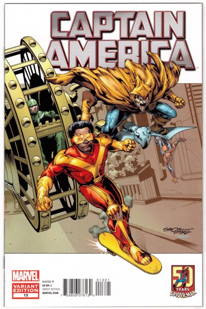 Captain America #13 1:25 Larry Stroman Spider-Man Variant Marvel 2011 VF/NM
