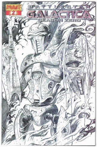 Battlestar Galactica Season Zero #2 Batista Sketch Variant Dynamite 2007 VF/NM