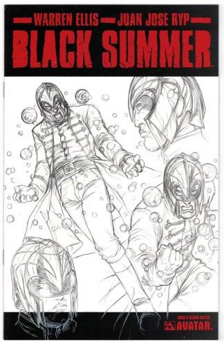 Black Summer #0 Design Sketch Variant Avatar 2007 Ellis Ryp VF/NM