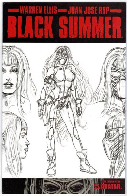 Black Summer #2 Design Sketch Variant Avatar 2007 Ellis Ryp VF/NM