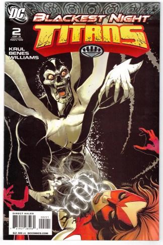 Blackest Night Titans #2 1:25 Brian Haberlin Variant DC 2009 VF/NM