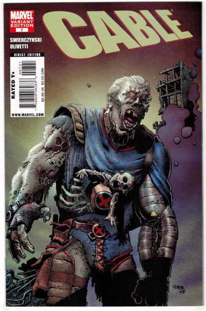 Cable #7 1:10 Richard Corben Zombie Variant Marvel 2008 VF/NM