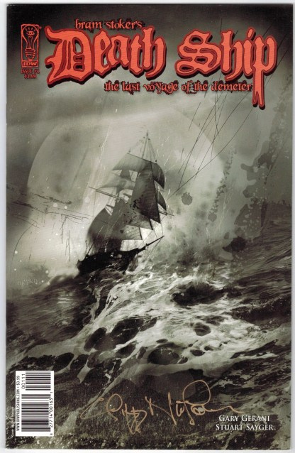 Bram Stoker's Death Ship #1 Neilson Cover A Signed IDW 2010 VF/NM