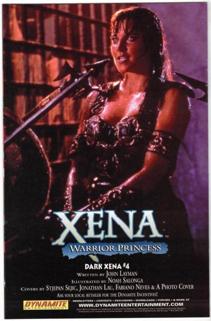 Xena Warrior Princess #3 Dark Xena Neves B&W Sketch Variant Dynamite 2007 VF/NM