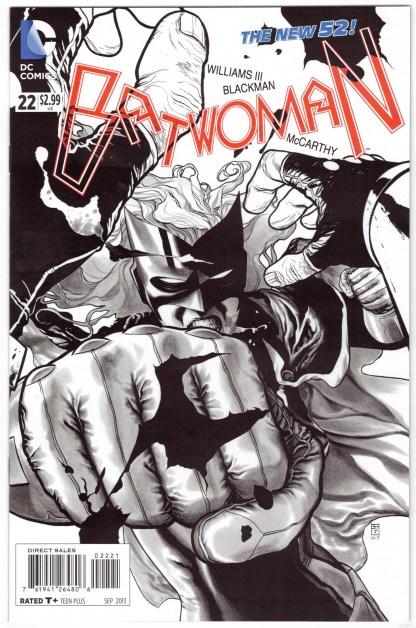 Batwoman #22 1:25 JH Williams Black & White Variant DC New 52 2011 VF/NM