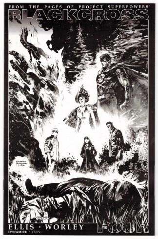 Blackcross #4 1:35 Gabriel Hardman Sketch Variant Project Superpowers 2015 VF/NM