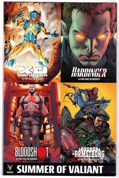 Bloodshot #1 1:20 David Aja Variant Valiant 2012 VF/NM