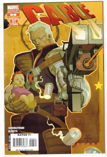 Cable #3 1:20 John Romita Jr Variant Marvel X-Men Hope 2008 VF/NM