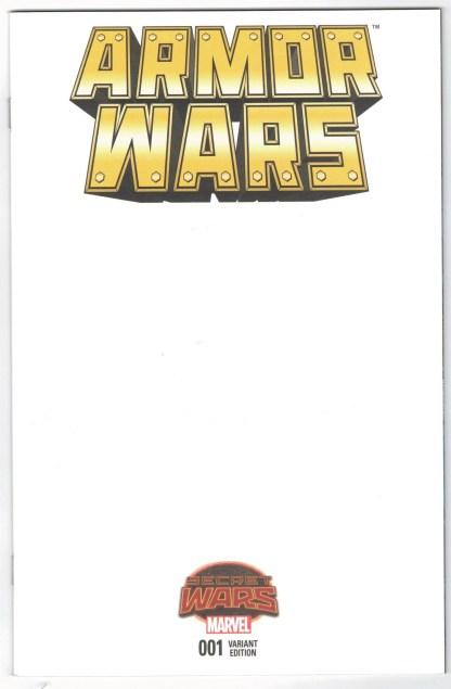Armor Wars #1 Blank Sketch Variant Marvel Secret Wars 2015 SWA VF/NM
