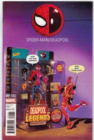 Spider-Man Deadpool #1 Action Figure Photo Variant Marvel 2016 VF/NM