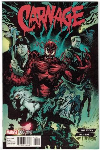 Carnage #6 1:10 Mike Perkins Story Thus Far Variant Marvel 2015 VF/NM