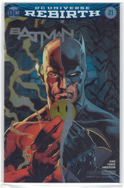Batman #21 C2E2 Foil Exclusive Variant DC Rebirth The Button Flash VF/NM