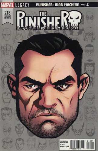 Punisher #218 1:10 Mike McKone Headshot Variant Marvel Legacy