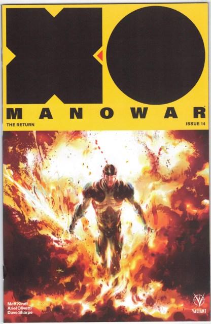 X-O Manowar #14 1:20 Keron Grant Variant Valiant 2017 Matt Kindt VF/NM