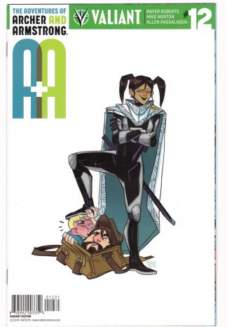 A&A Adventures Archer and Armstrong #12 1:20 Allen Variant Valiant 2016 VF/NM