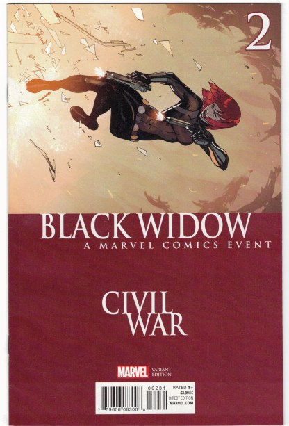 Black Widow #2 Bengal Civil War Homage Variant Marvel 2016 Samnee Waid VF/NM