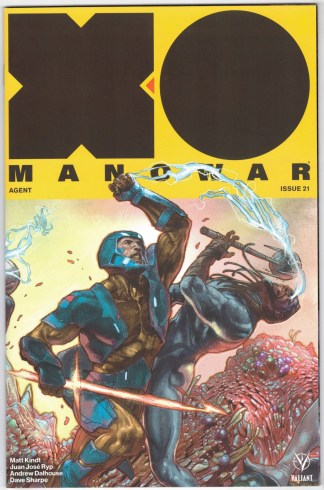 X-O Manowar #21 1:20 Guedes Interlocking Variant Valiant 2017 Matt Kindt VF/NM