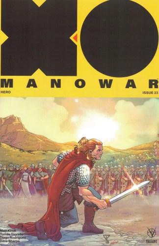 X-O Manowar #23 1:20 Portela Interlocking Variant Valiant 2017 Matt Kindt
