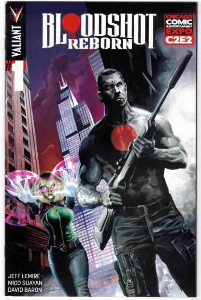 Bloodshot Reborn #1 Woodward C2E2 Exclusive Variant Valiant 2015 VF/NM