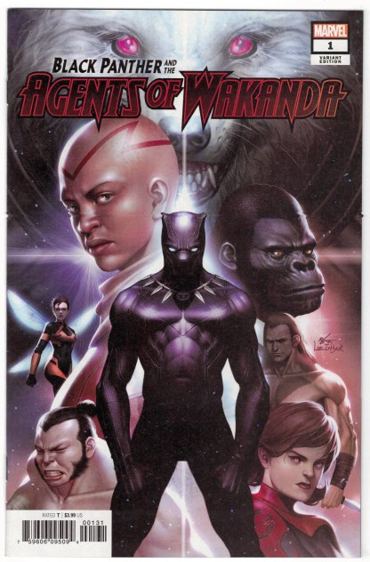 Black Panther and the Agents of Wakanda #1 1:50 Inhyuk Lee Variant 2019 VF/NM