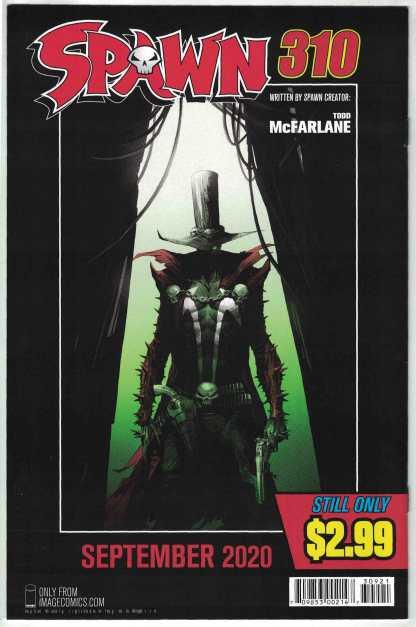 Spawn #309 Todd McFarlane Gunslinger Variant Cover B Image 1992 VF/NM