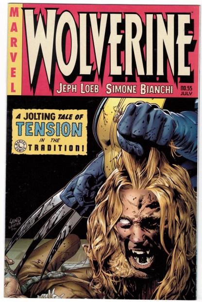 Wolverine #55 Greg Land Death of Sabretooth EC Homage Variant Marvel 2007 VF/NM