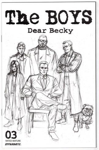 Boys Dear Becky #3 Darick Robertson Bonus FOC Sketch Variant 2020 VF-