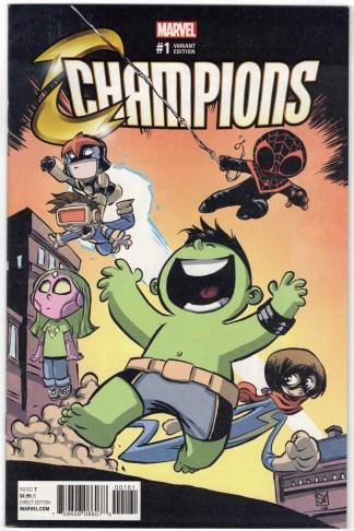 Champions #1 Skottie Young Marvel Babies Variant Marvel 2016 VF/NM