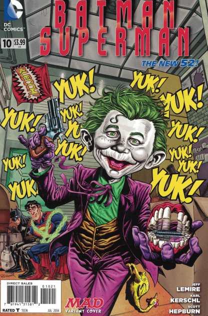 Batman Superman #10 1:25 Tom Richmond Mad Variant DC New 52 2013