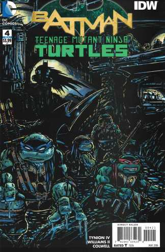 Batman Teenage Mutant Ninja Turtles #4 1:50 Kevin Eastman Variant IDW DC