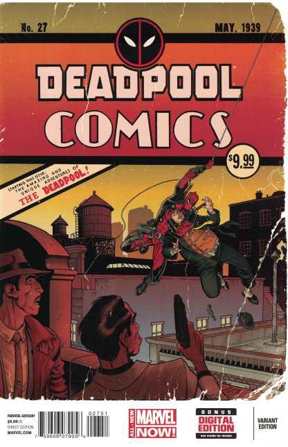 Deadpool #27 1:50 Art Adams Variant Detective Batman Homage Marvel 2012