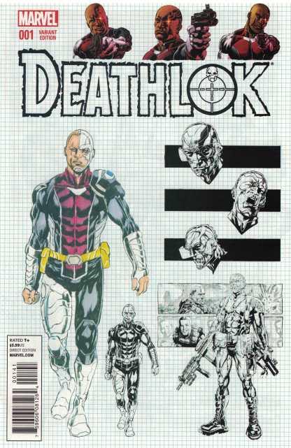 Deathlok #1 1:25 Design Variant Marvel ANMN 2014