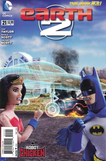 Earth 2 #21 1:25 Robot Chicken Variant DC New 52