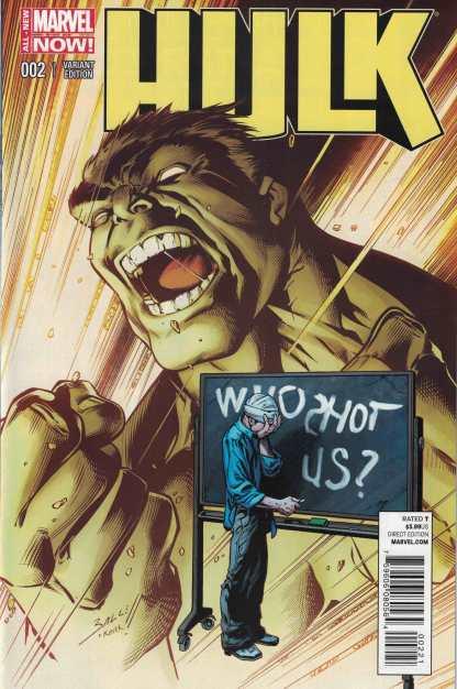 Hulk #2 1:50 Mark Bagley Variant Marvel ANMN 2014