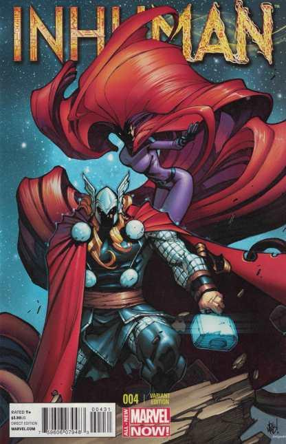 Inhuman #4 1:50 Joe Mad Madureira Variant Marvel 2014 Medusa Thor ANMN