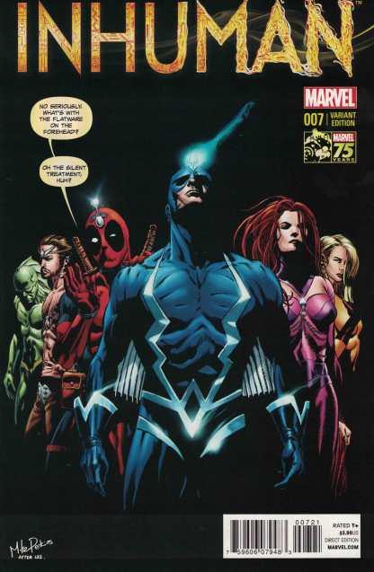 Inhuman #7 1:25 Mike Perkins Deadpool Variant Marvel 2014 ANMN