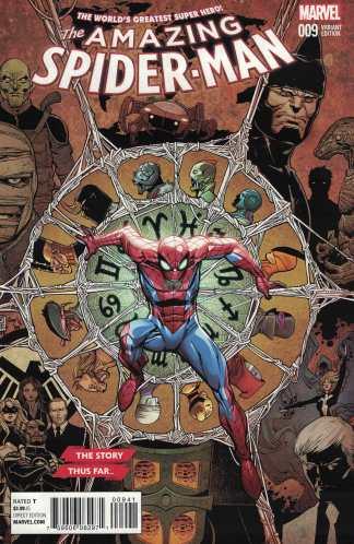 Amazing Spider-Man #9 1:10 Story Thus Far Variant Marvel 2015 ANAD