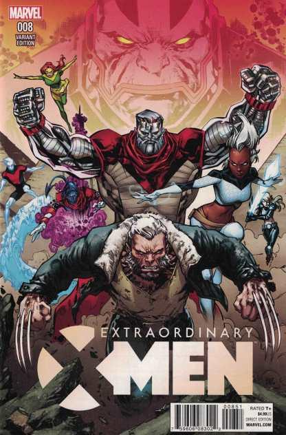 Extraordinary X-Men #8 Lashley Connecting Variant A Marvel ANAD 2015