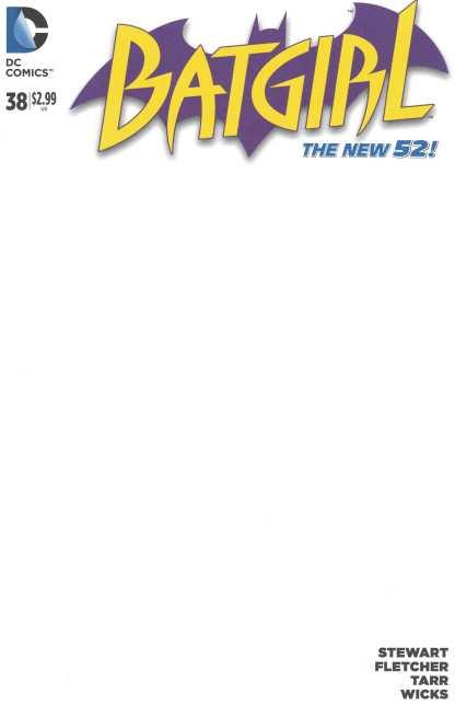 Batgirl #38 Blank Sketch Variant DC New 52 2011 Batgirl of Burnside