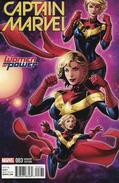 Captain Marvel #3 Lupacchino Women of Power WOP Variant ANAD 2016