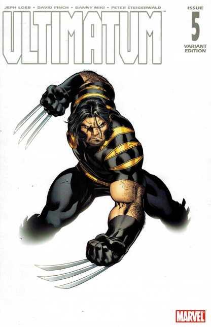Ultimatum #5 1:25 Ed McGuinness Color Ultimate Wolverine Variant