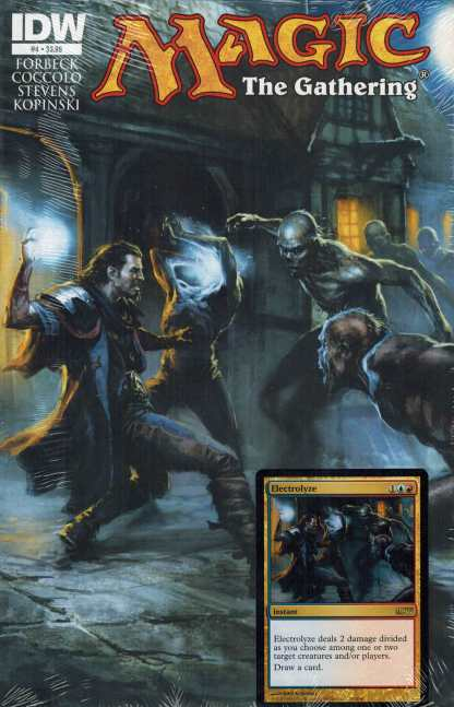 Magic the Gathering #4 Comic with Electrolyze IDW Promo Card New Sealed