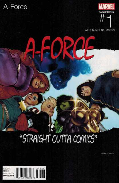 A-Force #1 Adam Hughes Hip Hop Variant NWA Homage Marvel ANAD 2016