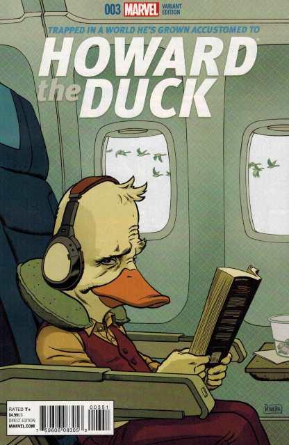 Howard the Duck #3 1:25 Paolo Rivera Variant Marvel ANAD 2015