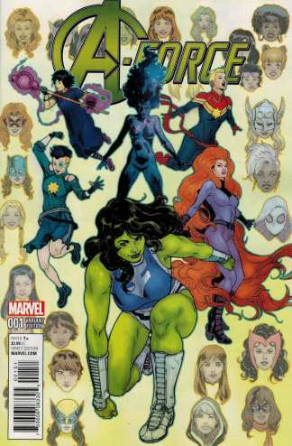 A-Force #1 1:25 Victor Ibanez She Hulk Variant Marvel ANAD 2016